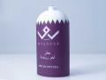 Bottiglia-verniciatura-bianco-coprente-e-viola-coprente-con-mascheratura-e-tampografia-1-colore-loghi-e-scritte